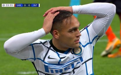 Lautaro, clamoroso errore con lo Shakhtar. VIDEO