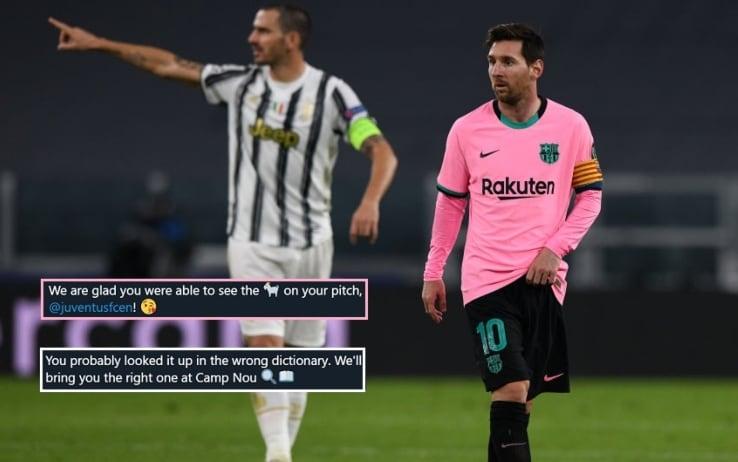 Botta e riposta social tra Barça e Juve