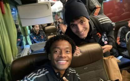 """Cuadrado scherza con Morata: """"Non era fuorigioco!"""""""