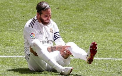 Sergio Ramos, infortunio muscolare: salta l'Inter