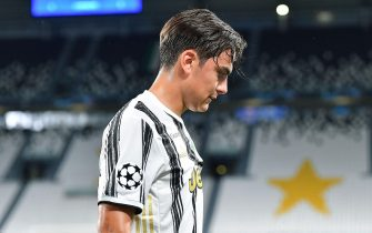 Juventus' Paulo Dybala during the UEFA Champions League round of 16 second leg soccer match Juventus FC vs Olympique Lyon at the Allianz Stadium in Turin, Italy, 07 August 2020.ANSA/ALESSANDRO DI MARCO