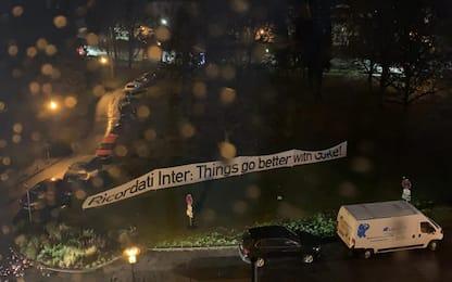 Inter svegliata nella notte dagli ultras tedeschi