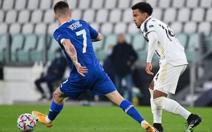 Juve-Dinamo Kiev 1-0 LIVE: segna Chiesa di testa