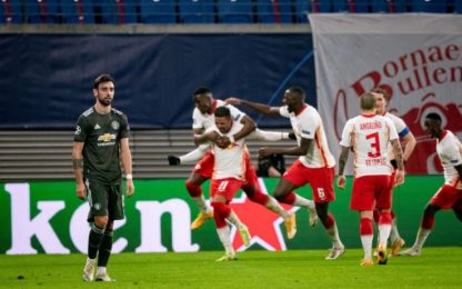 United ko ed eliminato: il Lipsia vola agli ottavi