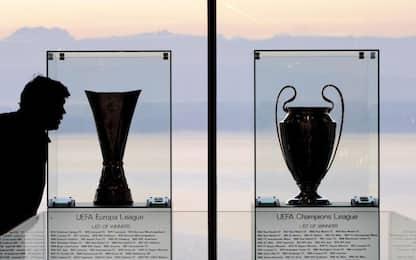 Lunedì i sorteggi di Champions ed Europa League