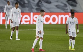 Federico Valverde of Real Madrid during the Champions League match, group B, between Real Madrid and Shakhtar Donetsk played at Alfredo Di Stefano Stadium on October 21, 2020 in Madrid, Spain. (Photo by Ruben Albarrán/PRESSINPHOTO)
