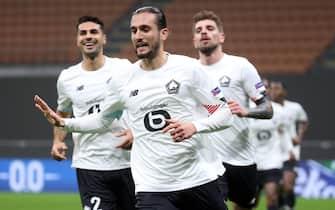 Lille''s Yusuf Yazici jubilates after scoring the 0-1 goalduring the UEFA Europa League Group H soccer match Ac Milan vs Lille  OSC at Giuseppe Meazza stadium in Milan, Italy,  5 November 2020.ANSA / MATTEO BAZZI