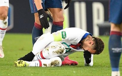 Neymar ko, out 4 settimane: salterà il Barcellona