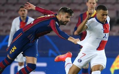 Mbappé show, tripletta e 4-1 Psg in casa del Barça