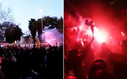 Tifosi Barça, fuochi d'artificio prima del Psg
