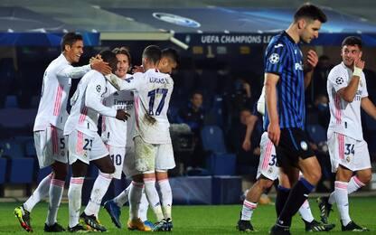 L'Atalanta in 10 cade solo nel finale: 1-0 Real