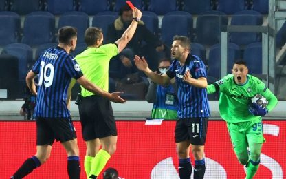 Freuler, l'espulsione in Atalanta-Real. VIDEO