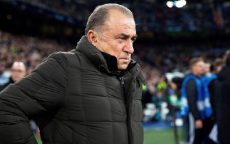 epa07977177 Galatasaray's head coach Fatih Terim prior to the UEFA Champions League group A soccer match between Real Madrid and Galatasaray Istanbul at the Santiago Bernabeu Stadium in Madrid, Spain, 06 November 2019.  EPA/RODRIGO JIMENEZ