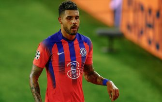 Emerson Palmieri of Chelsea FC during the Champions League match, Group E between Sevilla FC v Chelsea FC played at Sanchez Pizjuan Stadium on December 2, 2020 in Sevilla, Spain. (Photo by Antonio Pozo/PRESSINPHOTO)