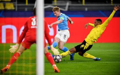 Dortmund-City 1-1 LIVE: pari Mahrez su rigore