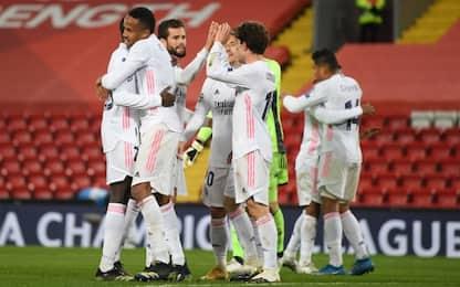 Il Real alza il muro e passa: 0-0 a Liverpool