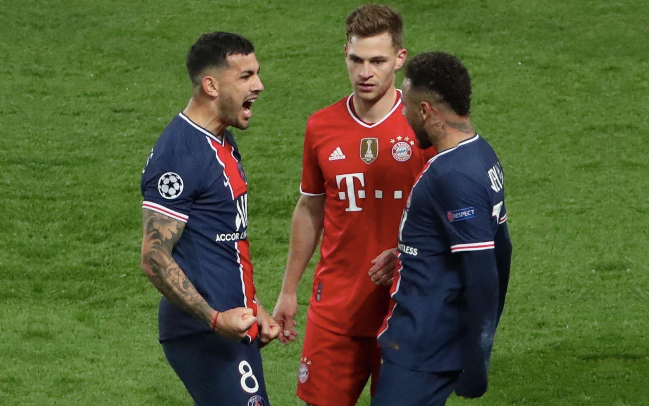 L'esultanza di Neymar e Paredes con Kimmich