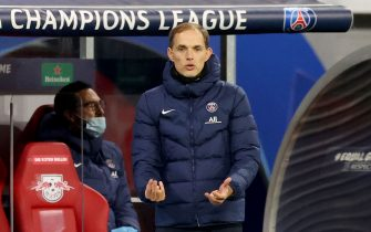 04 November 2020, Saxony, Leipzig: Football: Champions League, group stage, group H, Matchday 3: RB Leipzig - Paris Saint-Germain at the Red Bull Arena. Coach Thomas Tuchel from PSG is on the sidelines. Photo: Jan Woitas/dpa-Zentralbild/dpa