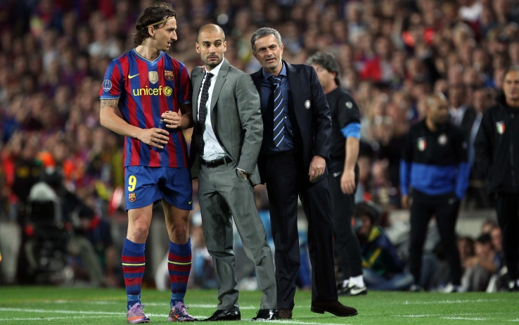 Mourinho, Guardiola e Ibrahimovic in Barcellona-Inter