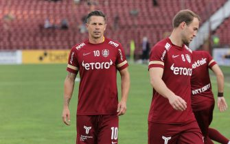 CLUJ-NAPOCA, ROMANIA - JULY 28: Ciprian Deac of CFR Cluj ahead of the UEFA Champions League Second Qualifying Round: Second Leg match between CFR Cluj v Lincoln Red Imps, on July 28, 2021 in Cluj-Napoca, Romania. (Photo by Vasile Mihai-Antonio/Getty Images)