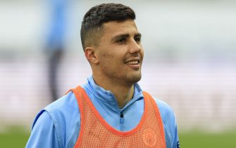 Rodri #16 of Manchester City during the pre-game warmup in Newcastle, United Kingdom on 5/14/2021. (Photo by Iam Burn/News Images/Sipa USA)