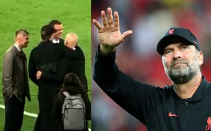 Klopp, terzo tempo dopo Liverpool-Milan. VIDEO