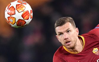AS Roma's Edin Dzeko in action during the UEFA Champions League round of 16 first leg soccer match between AS Roma and  FC Porto at the Olimpico stadium in Rome, Italy, 12 February 2019.  ANSA/ETTORE FERRARI