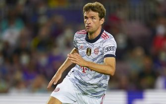 Thomas Muller of FC Bayern Munich during the UEFA Champions League match between FC Barcelona and Bayern Munich played at Camp Nou Stadium on September 14, 2021 in Barcelona, Spain. (Photo by PRESSINPHOTO)