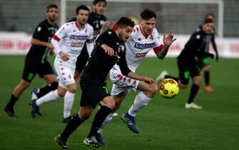Foto Donato Fasano/LaPresse 17 Febbraio 2020 Bari Italia sport calcio Bari vs Monopoli  - Serie C 2020/2021 Girone C - stadio San Nicola Bari. Nella foto: Starita Perrotta