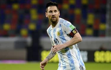 Lionel Messi da Argentina durante a partida entre Argentina e Chile pela 7ª rodada das Eliminatórias Qatar 2022, no Estádio Único de Santiago del Estero, nesta quinta-feira-03. DiaEsportivo / PRESSINPHOTO