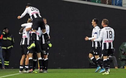 L'Udinese travolge il Bologna: ottavi con la Juve