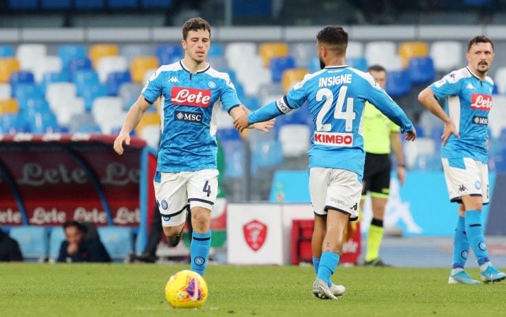 Ottavi Coppa Itaia, Napoli-Perugia 2-0. Azzurri ai quarti