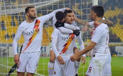 La Roma raggiunge la Juve ai quarti, Parma ko 2-0