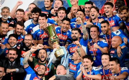Napoli regina di Coppa: le foto della premiazione