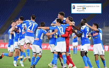 """Maradona applaude il Napoli: """"Orgoglioso di voi"""""""