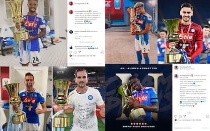 Gioia Napoli, la festa dei giocatori è sui social