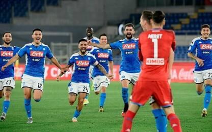 Napoli-Juve 4-2 dopo i rigori: gli highlights