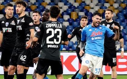 Il Napoli soffre ma passa ai quarti: Empoli ko 3-2
