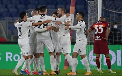 La Roma non si rialza: 2 rossi e 4-2 per lo Spezia