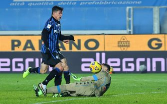 Atalanta's Matteo Pessina scores the goal 3-1 during the Coppa Italia Semi-final second leg match between Atalanta BC vs Napoli at Gewiss Stadium in Bergamo, Italy, 10 February 2021.ANSA/PAOLO MAGNI