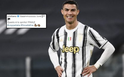 "Ronaldo esulta: ""Vamos Juve, questo è lo spirito!"""