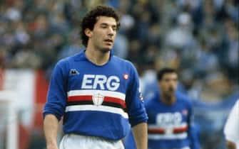 Ravezzani/LaPresseanni '80 Genova - ItaliastoricocalcioGianluca VialliNella foto: il calciatore della Sampdoria Gianluca Vialli