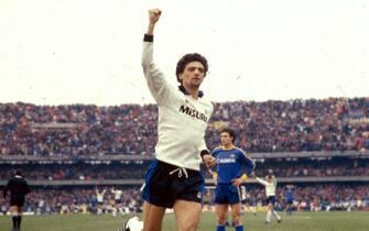 ©Marco Ravezzani/Lapresse12-04-1985 Verona, ItaliaCalcioStagione 1985 Verona-InterNella foto : ALESSANDRO ALTOBELLI.
