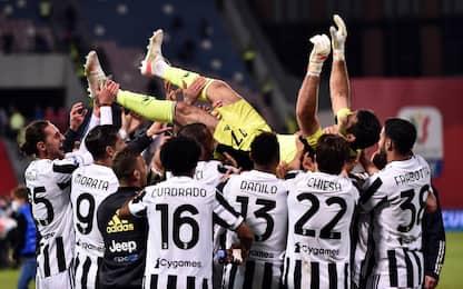 Buffon re della Coppa Italia, ne ha 6 come Mancini