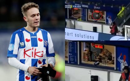 Halilovic, dove tiri? Centrato bar stadio. VIDEO