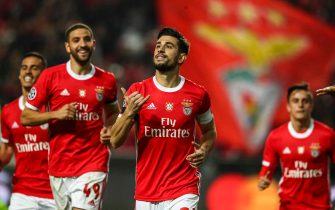 LISBON, PORTUGAL - DECEMBER 10: Pizzi of SL Benfica celebrates after scoring his team's second goal during the UEFA Champions League group G match between SL Benfica and Zenit St. Petersburg at Estadio da Luz on December 10, 2019 in Lisbon, Portugal. (Photo by Carlos Rodrigues/Getty Images)
