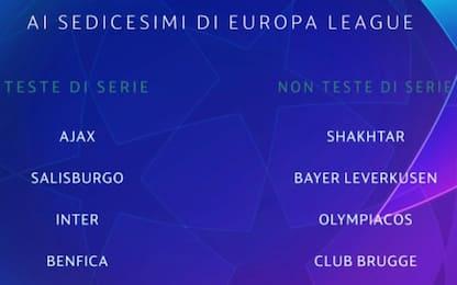Europa League, Inter testa di serie al sorteggio
