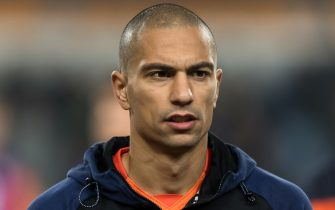 Gokhan Inler of Istanbul Medipol Basaksehir FK during the Turkish Spor Toto Super Lig football match between Medipol Basaksehir FK and Galatasaray AS on November 18, 2017 at the Fatih Terim stadium in Istanbul, Turkey(Photo by VI Images via Getty Images)