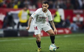 SEVILLE, SPAIN - FEBRUARY 02: Suso of Sevilla FC in action during the Liga match between Sevilla FC and Deportivo Alaves at Estadio Ramon Sanchez Pizjuan on February 02, 2020 in Seville, Spain. (Photo by Quality Sport Images/Getty Images)
