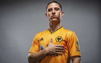WOLVERHAMPTON, ENGLAND - JANUARY 30: Wolverhampton Wanderers unveil new signing Daniel Podence on January 30, 2020 in Wolverhampton, England. (Photo by stuartmanleyphotography/Wolves/WWFC via Getty Images)